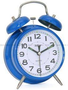 Budzik wskazówkowy Adler 40131-BLUE Retro z dzwonkami