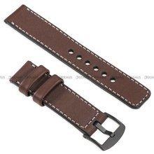 Pasek skórzany do zegarka lub smartwatcha - moVear WQU0C01SL00BKMM26B1 - 26 mm