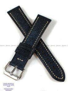 Pasek skórzany ręcznie robiony A. Kucharski Leather - Badalassi Carlo Pueblo RawEdge - navy/camel 32 mm