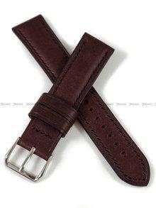 Pasek skórzany ręcznie robiony A. Kucharski Leather - Conceria Puccini Uragano - burgundy/black 20 mm