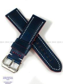 Pasek skórzany ręcznie robiony A. Kucharski Leather - Conceria Walpier Buttero - blue/white 30 mm
