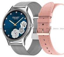 Smartwatch Pacific 18-5-Silver-RG - bransoleta i pasek w zestawie