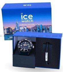 Zegarek Ice-Watch - Ice Sixty Nine Dark Black 018500 L - Z bransoletką w zestawie - Limitowana edycja