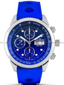 Zegarek Męski Balticus Grey Seal III Chrono - niebieski - Dwa paski i bransoleta w zestawie