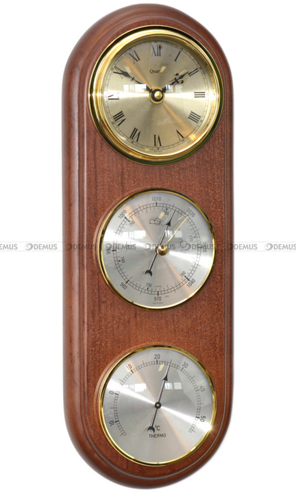 Barometr Termometr Zegar TFA Owal3DZegar-N-09-BWA