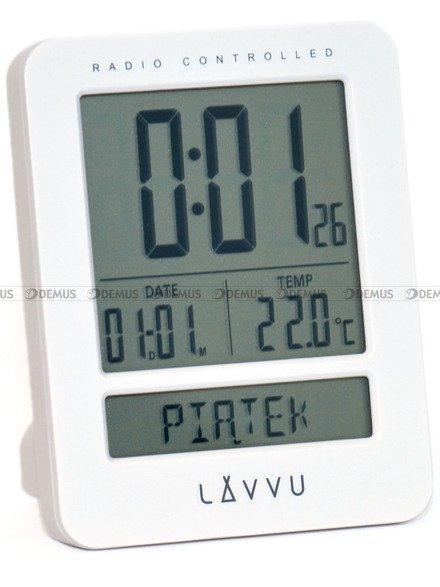 Budzik cyfrowy LAVVU LAR0020 biały, DCF, dzień tygodnia PL