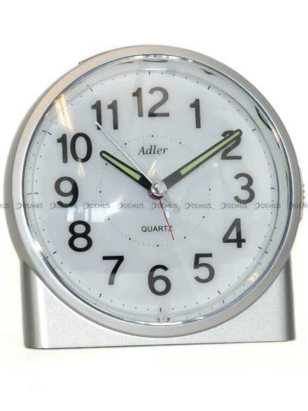 Budzik z płynąca wskazówką Adler PT244-1519-2-SR - 12x11 cm