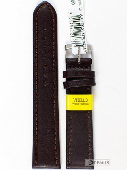 Pasek do zegarka skórzany - Morellato A01U3151237034 20mm