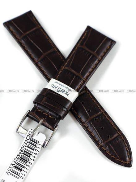 Pasek do zegarka skórzany - Morellato A01X2269480032CR21 - 21 mm