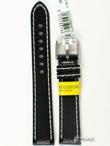 Pasek do zegarka wodoodporny karbonowy - Morellato A01U3586977817 18mm
