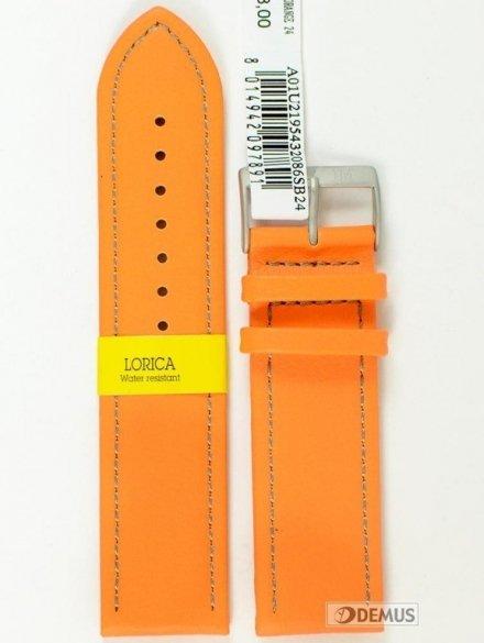 Pasek do zegarka wodoodporny skórzany - Morellato A01U2195432086 24mm