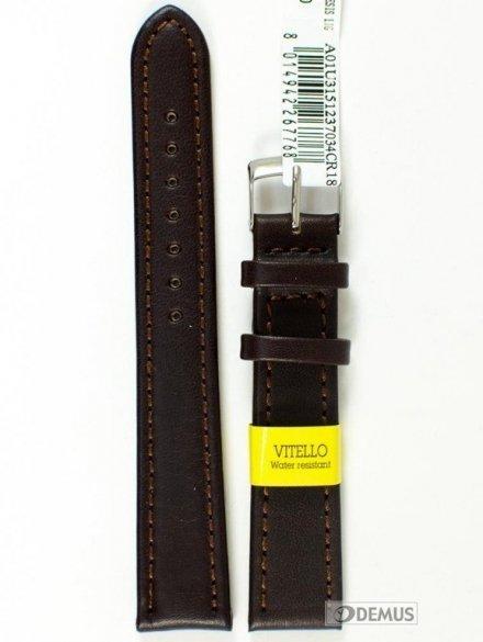 Pasek do zegarka wodoodporny skórzany - Morellato A01U3151237034 18mm