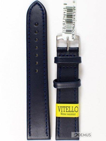 Pasek do zegarka wodoodporny skórzany - Morellato A01U3151237062 20mm