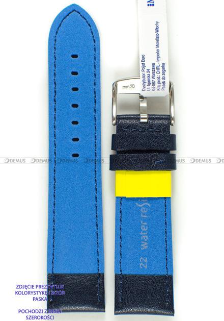 Pasek do zegarka wodoodporny skórzany - Morellato A01X5272C91162CR20 - 20 mm