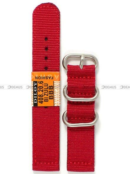 Pasek nylonowy do zegarka - Diloy 408.20.6 - 20 mm
