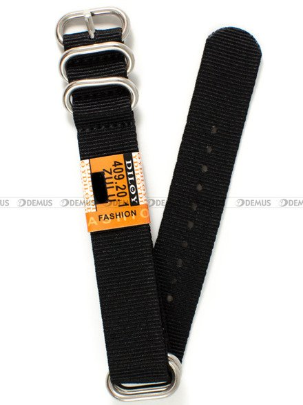Pasek nylonowy do zegarka - Diloy 409.20.1 - 20 mm