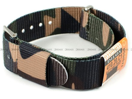 Pasek nylonowy do zegarka - Diloy 410.20.C1 - 20 mm
