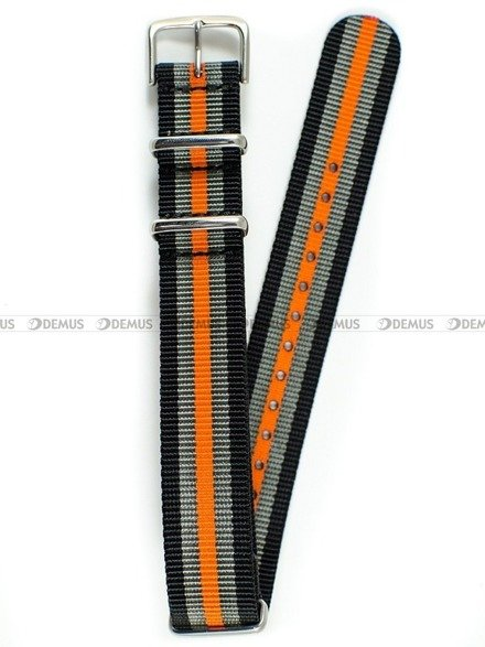 Pasek nylonowy do zegarka - Nato PNN1.18.1.11.12 - 18 mm