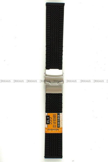 Pasek silikonowy Diloy do zegarka - SBR30.22.1 - 22 mm
