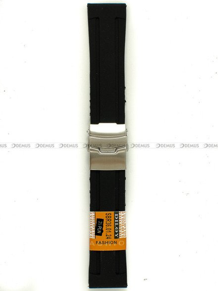 Pasek silikonowy Diloy do zegarka - SBR36.24.1 - 24 mm