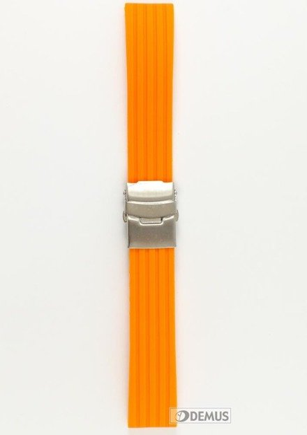 Pasek silikonowy do zegarka - Chermond PG6.22.5 - 22 mm