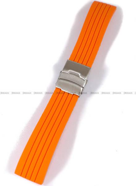Pasek silikonowy do zegarka - Chermond PG6.24.5 - 24 mm