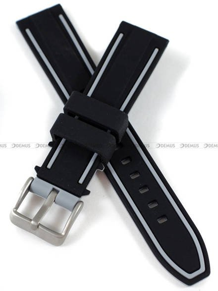 Pasek silikonowy do zegarka - Demus PGS5.20.1.11 - 20 mm