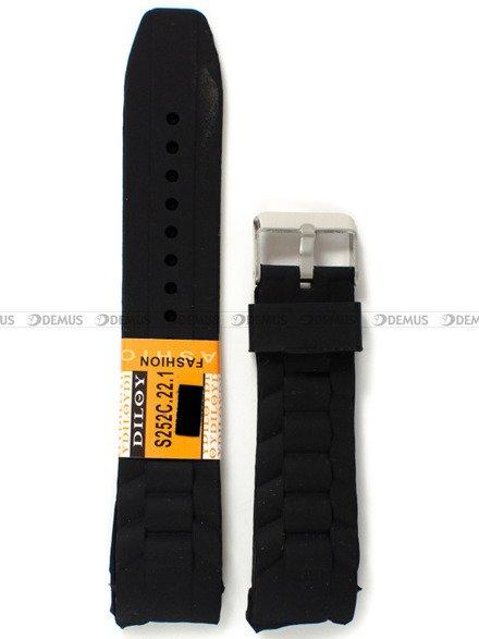 Pasek silikonowy do zegarka - Diloy S252C.22.1 - 22 mm