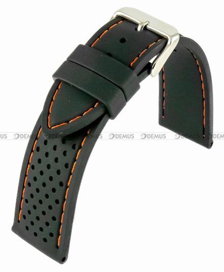 Pasek silikonowy do zegarka - Horido 0015.01OR.22S - 22 mm