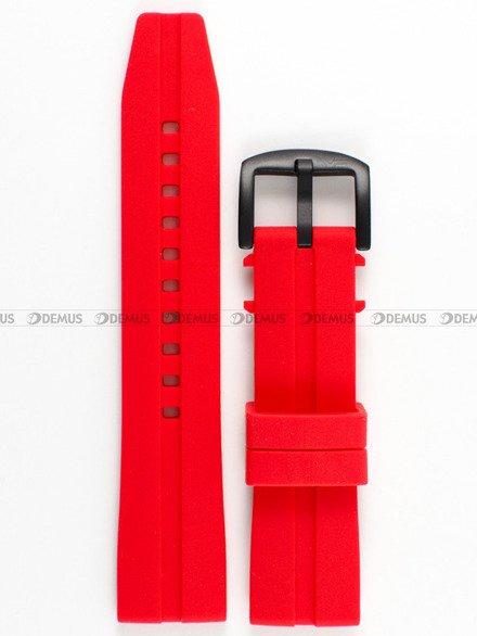 Pasek silikonowy do zegarka Vostok Almaz 6S11-320C260 - 22 mm czerwony