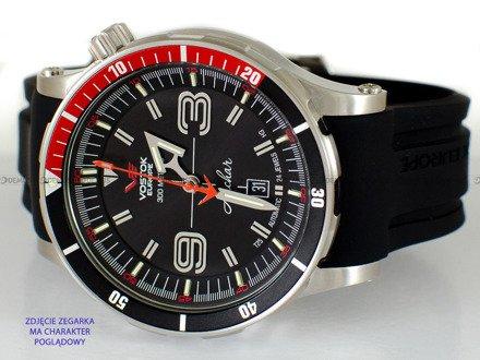 Pasek silikonowy do zegarka Vostok Anchar NH35-510A587 - 24 mm