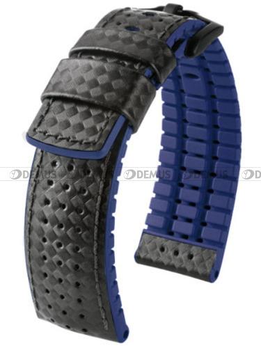 Pasek skórzano-kauczukowy do zegarka - Hirsch Ayrton 0918092050-5-24 - 24 mm