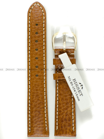 Pasek skórzany do zegarka Bisset - BS-154 - 18 mm