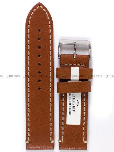 Pasek skórzany do zegarka Bisset - PB97.24.3 - 24 mm