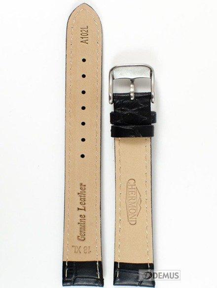 Pasek skórzany do zegarka - Chermond A102L.18XL.1K - 18mm