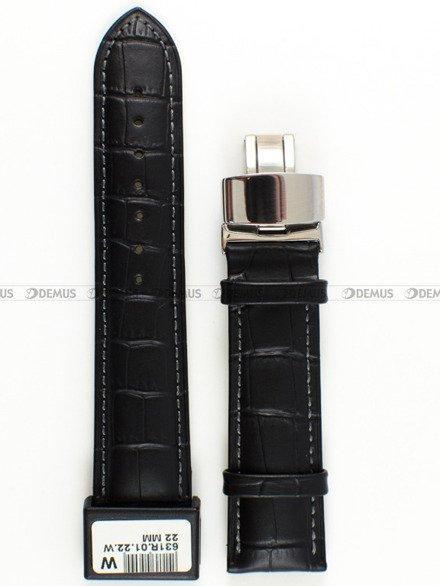 Pasek skórzany do zegarka - Condor 631R.01.22.W - 22 mm