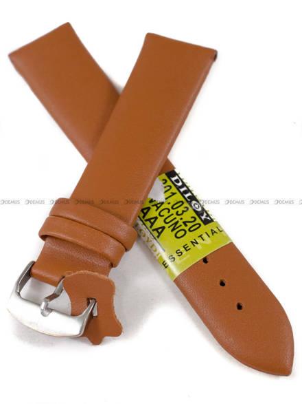 Pasek skórzany do zegarka - Diloy 301.20.3 - 20 mm