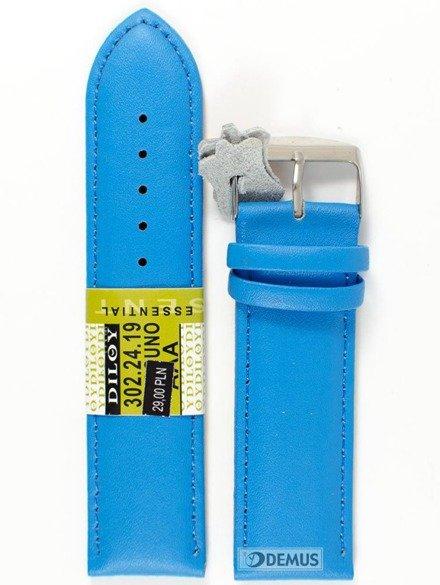 Pasek skórzany do zegarka - Diloy 302.24.19 - 24mm