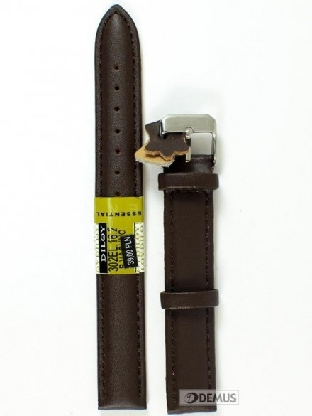 Pasek skórzany do zegarka - Diloy 302EL.16.2 - 16mm