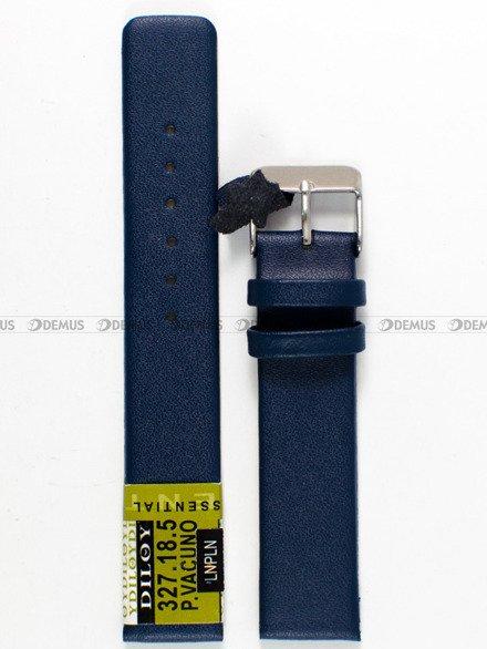 Pasek skórzany do zegarka - Diloy 327.18.5 - 18mm