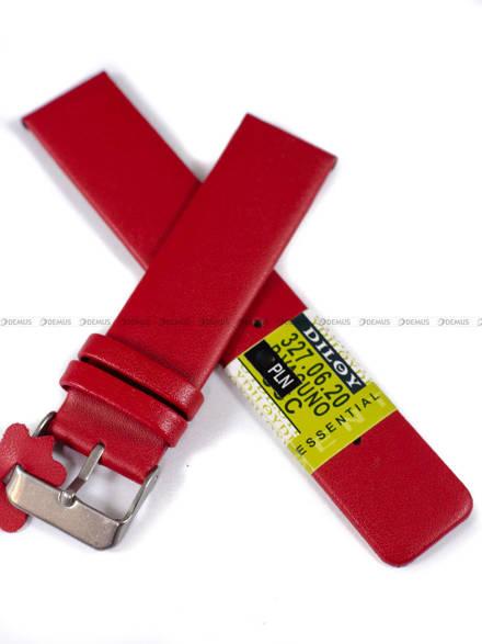 Pasek skórzany do zegarka - Diloy 327.20.6 - 20 mm
