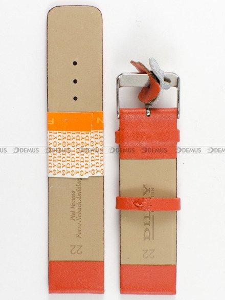 Pasek skórzany do zegarka - Diloy 327.22.12 - 22mm