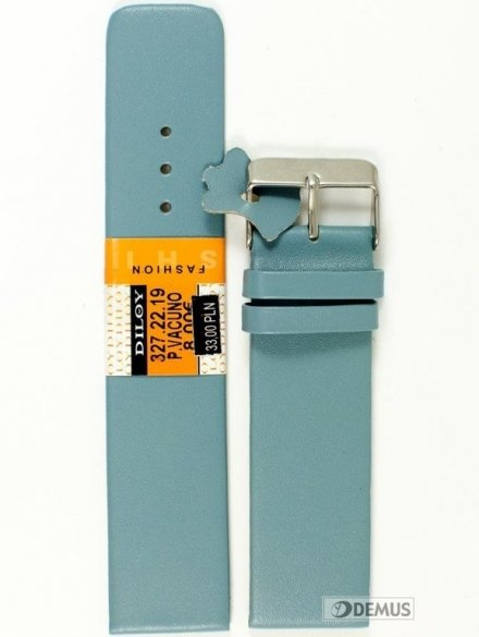 Pasek skórzany do zegarka - Diloy 327.22.19 - 22mm