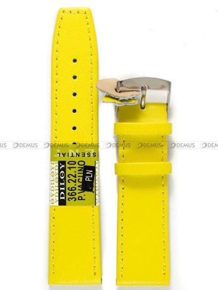 Pasek skórzany do zegarka - Diloy 366.22.10 - 22 mm