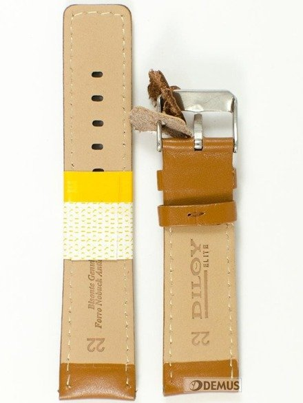Pasek skórzany do zegarka - Diloy 367.22.3 - 22mm