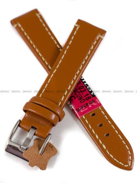 Pasek skórzany do zegarka - Diloy 373.18.3 - 18 mm