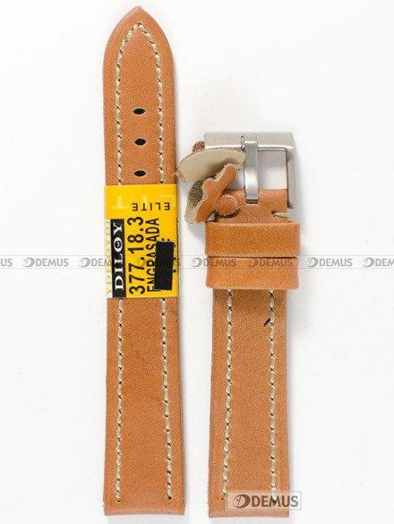 Pasek skórzany do zegarka - Diloy 377.18.3 - 18 mm