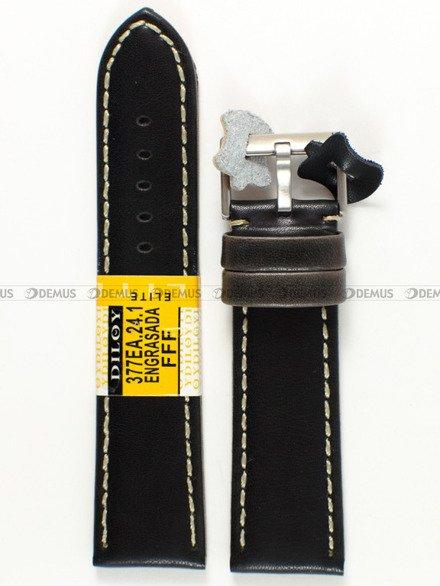 Pasek skórzany do zegarka - Diloy 377EA.24.1 - 24 mm