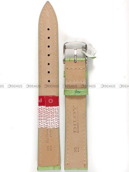 Pasek skórzany do zegarka - Diloy 379EL.18.11 - 18 mm