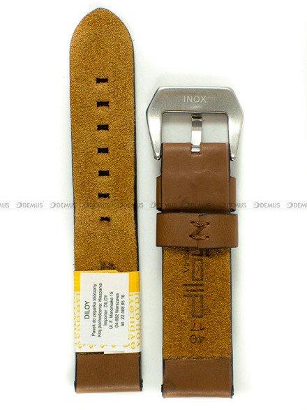 Pasek skórzany do zegarka - Diloy 383.20.3 - 20mm